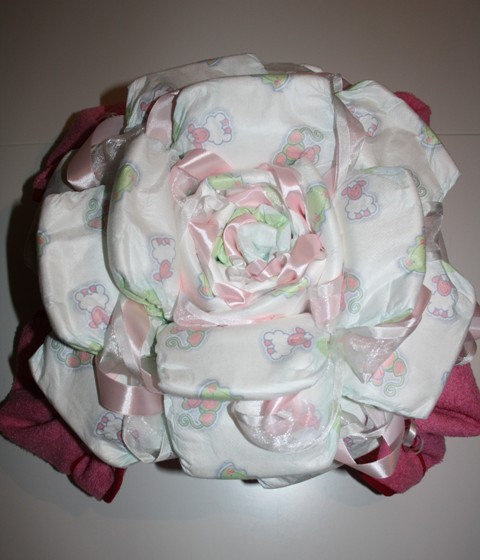 Roos met badcape